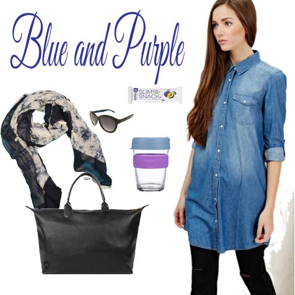 Modrá a fialová