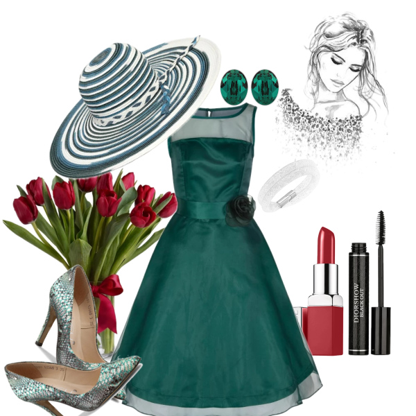 zelena elegantni
