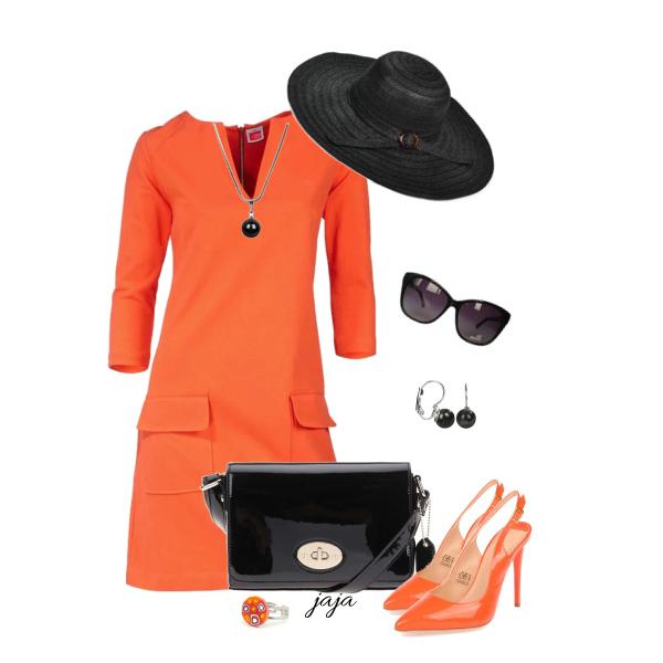 černá s oranžovou