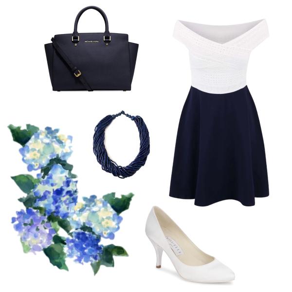 Dvoubarevné šaty