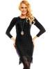 Úpletové černé sexy šaty