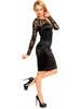 Exkluzivní saténové šaty s krajkou Deluxe