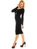 Černé úpletové šaty s rukávem