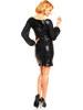 Flitrové černé šaty se šifónovými rukávy