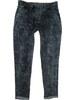 Levné kalhoty - tepláky tmavě šedé melírované