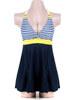 Jednodílné plavky modré+žluté