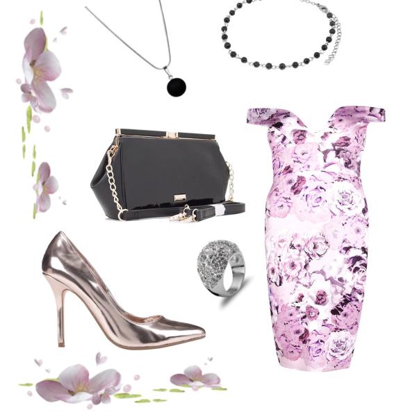 purple flower set