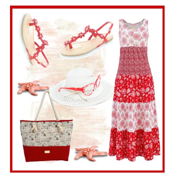 Belle women-červené sandály Floraeta