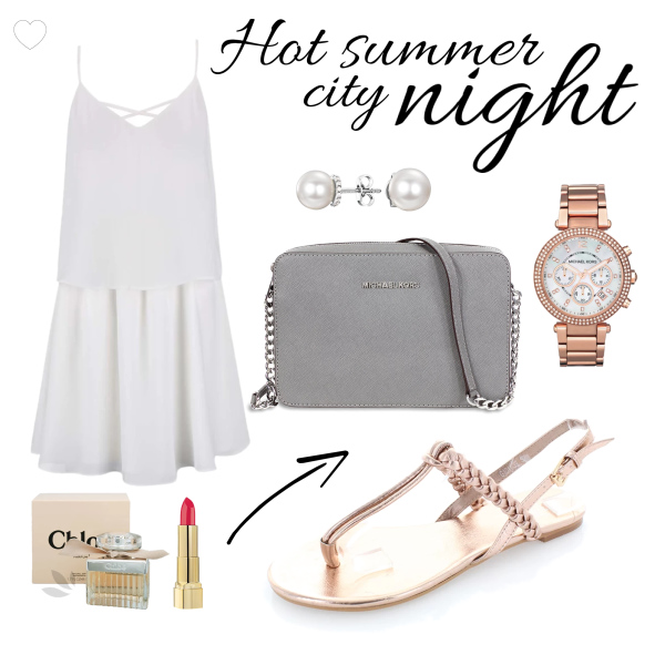 Hot summer city night
