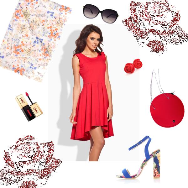 Červené šaty patří k létu
