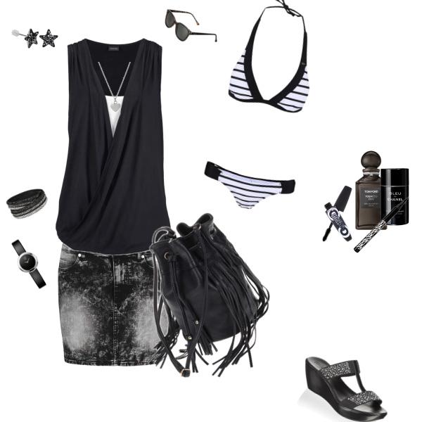 Letní set - černobílý