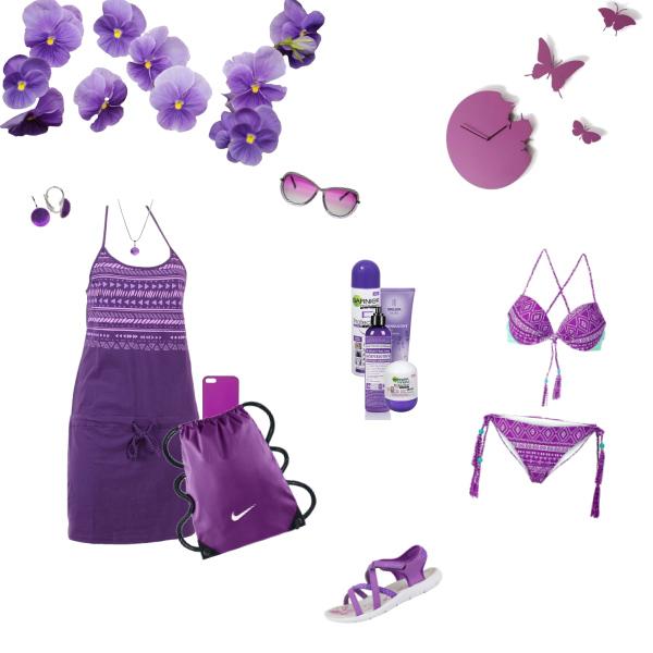 Letní set - fialový set