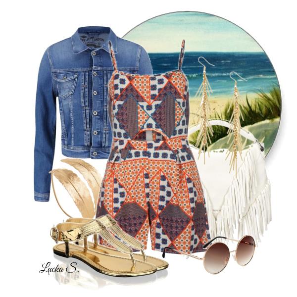 Džínová bundička v letním outfitu