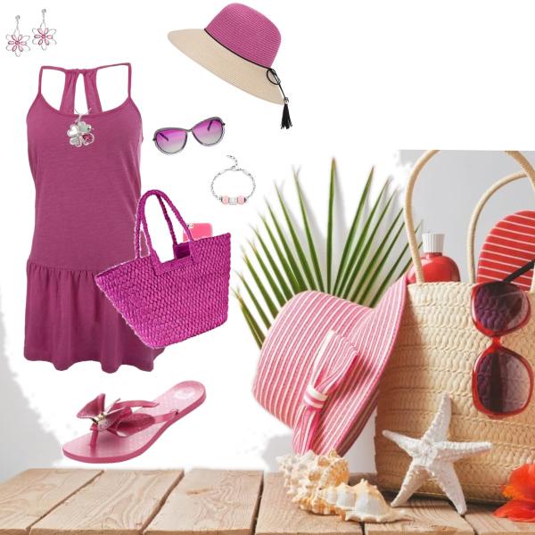 Letní set - růžová