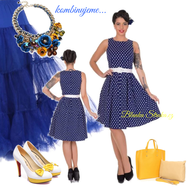 kombinace žluté  a modré...