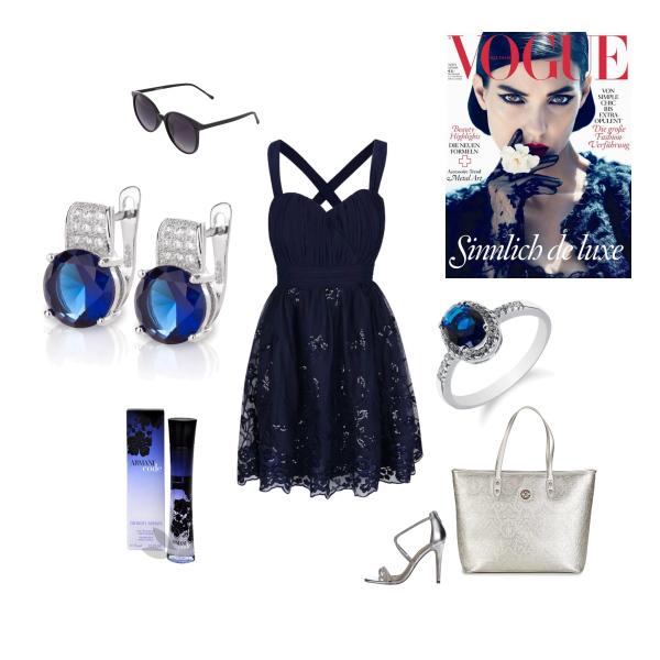 Elegantní look v tmavě modré