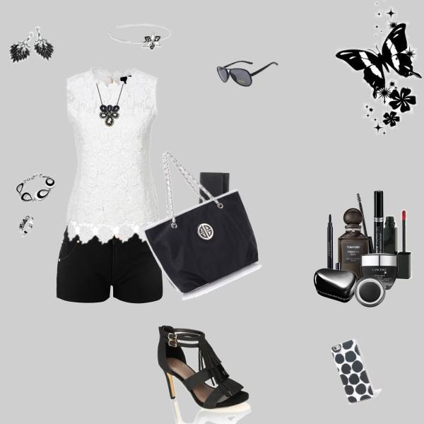 Elegantní set....černobílá..