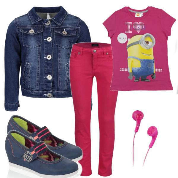 Dívčí modro - růžový set