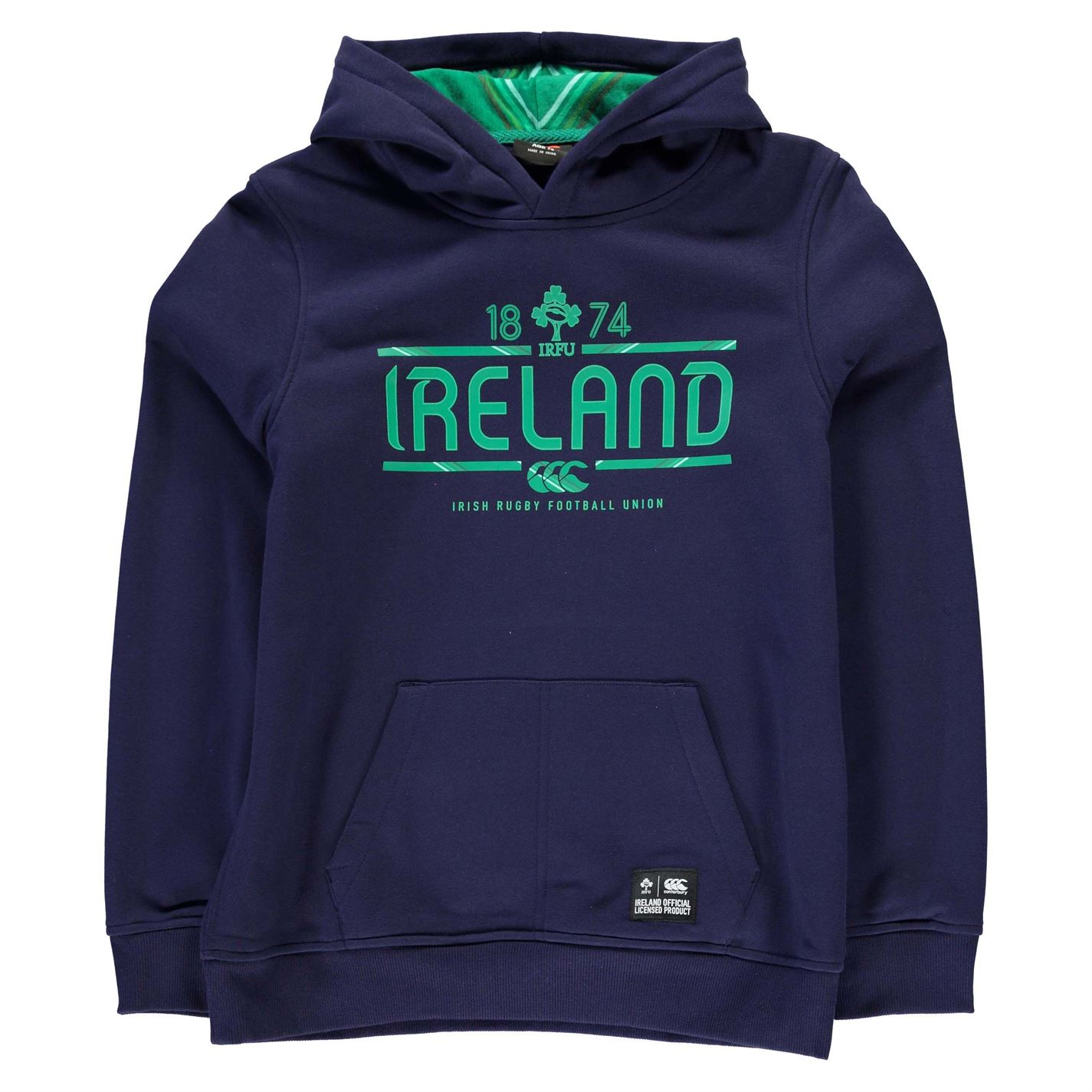 Mikina Cant Ireland Rugby Football Union OTH Hoody Junior Boys ... ed23489c847