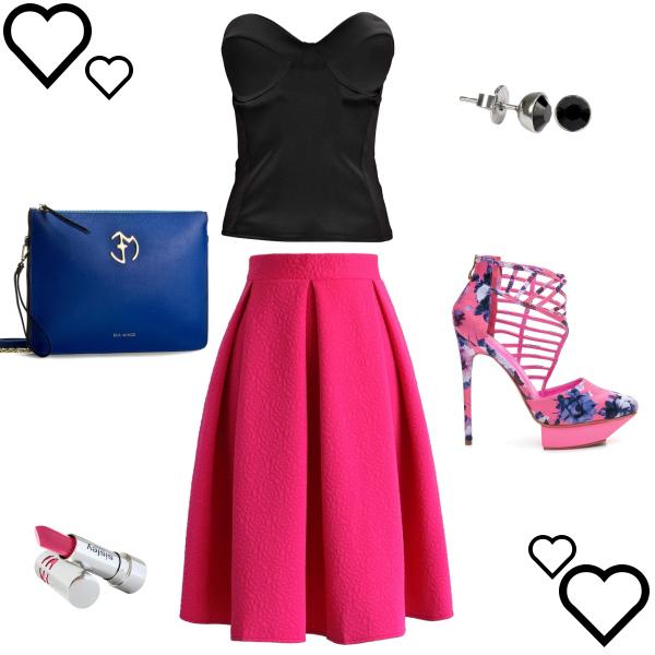 Letní outfit s midi sukní :-)