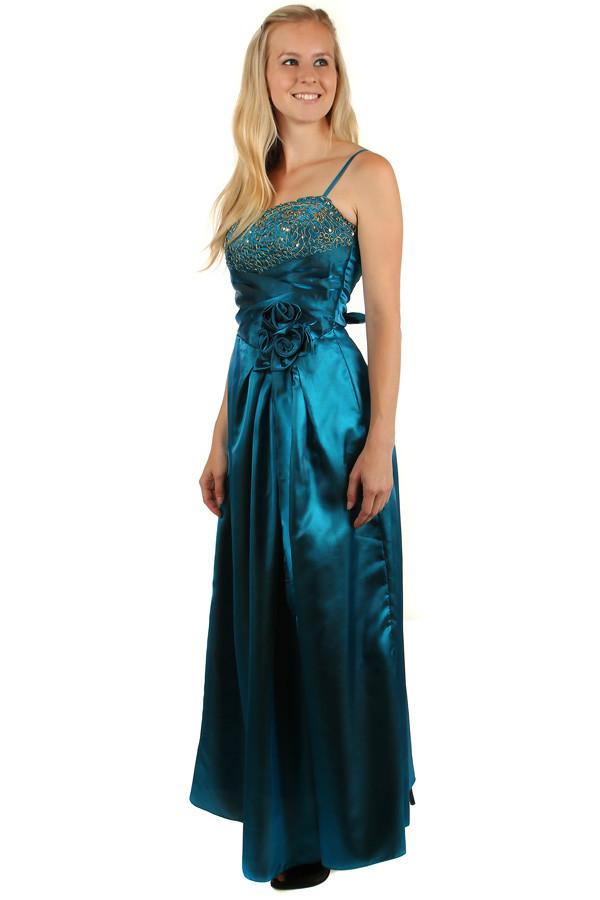 ... Dlouhé lesklé večerní šaty se zlatou výšivkou. -16%. Glara ... 5e4907229c