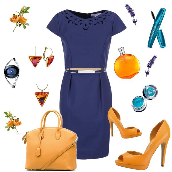 Modro - oranžová kombinace barev