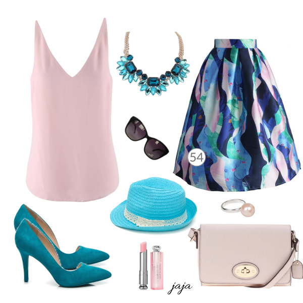 šperky a midi sukně