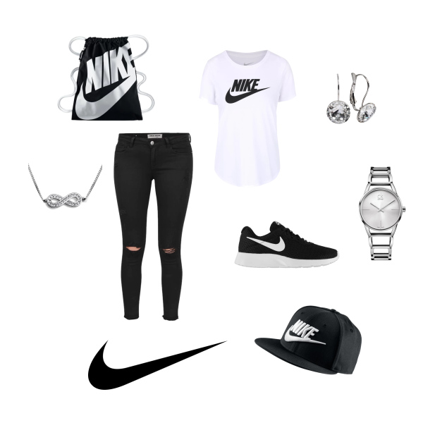 Nike outfit.