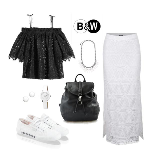 černo-bílá