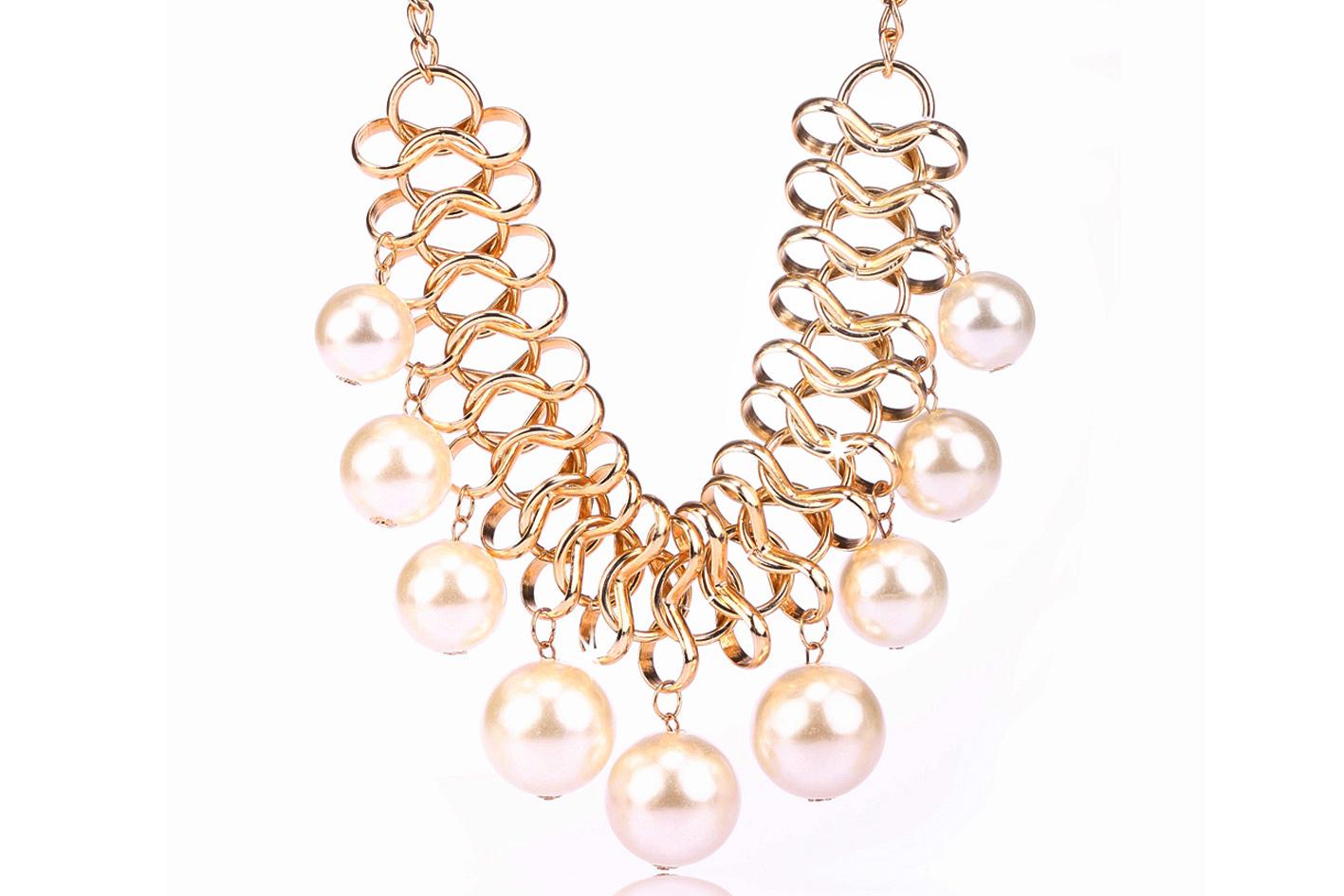 2f26e1203 Fashion Icon Náhrdelník masivní bílé perly NK0011-0314 - Glami.cz