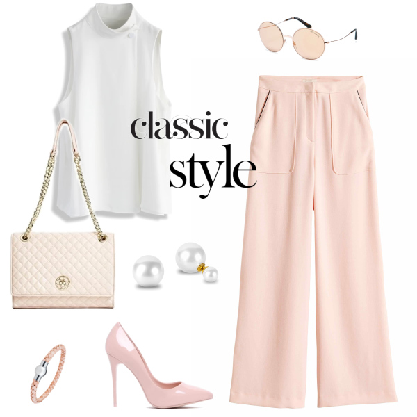 Classic pink look