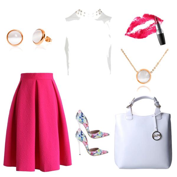 Bílá a růžová