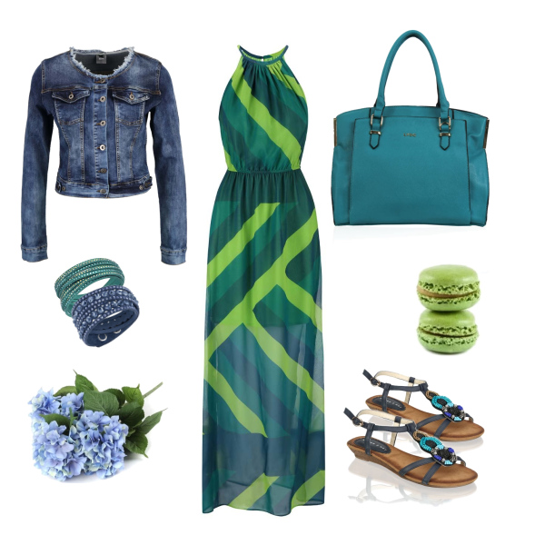 Modro zelená kombinace