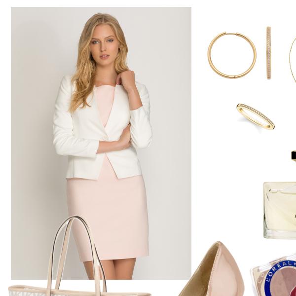 Schickes Outfit mit hellen Tönen