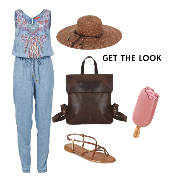 Summer outfit s overalem