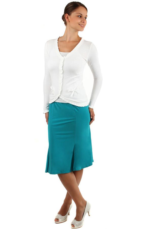 de20e240612e TopMode Dámská překládaná sukně- i pro plnoštíhlé (modrá