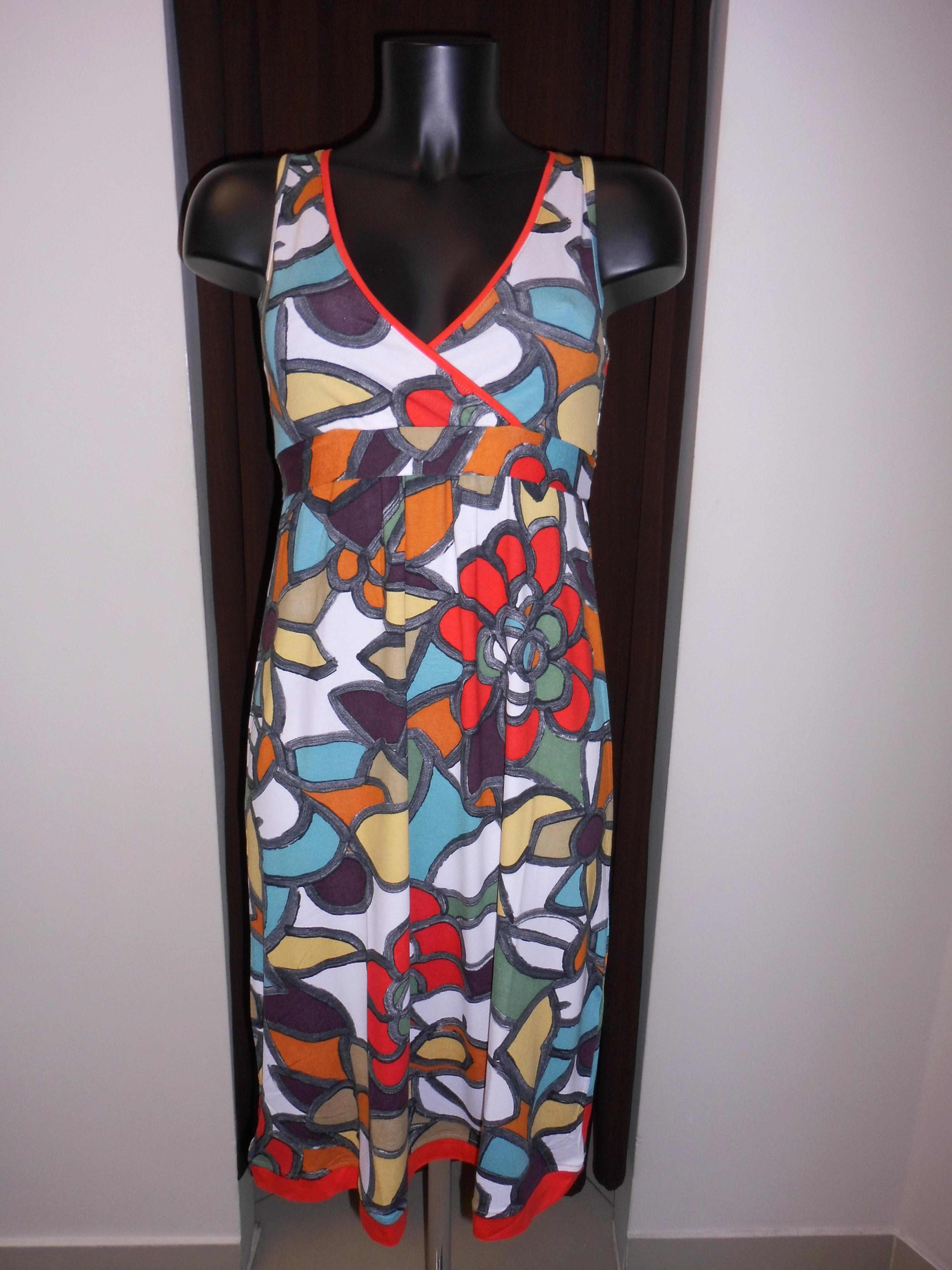 Plážové barevné šaty Vamp 4550 - Glami.cz b77c8d2255