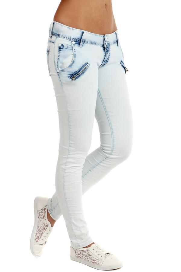 TopMode Dámské úzké světlé džíny (bílá 0ec701a67a