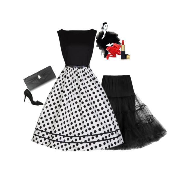 Lindy Bop dámské šaty Audrey Mono od Alltex- fashion.cz