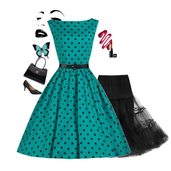 Retro šaty Lindy Bop Audrey New Polka od Alltex-fashion.cz