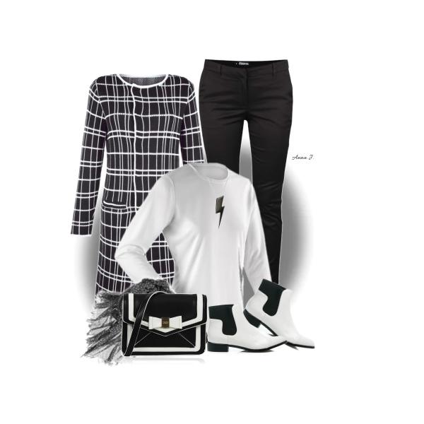 Černo-bílá kombinace-100x jinak.