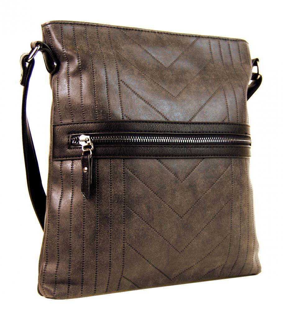 Tapple Dámska vysoká crossbody kabelka z brúsenej kože 165B-8 kávovo ... f77a10327df