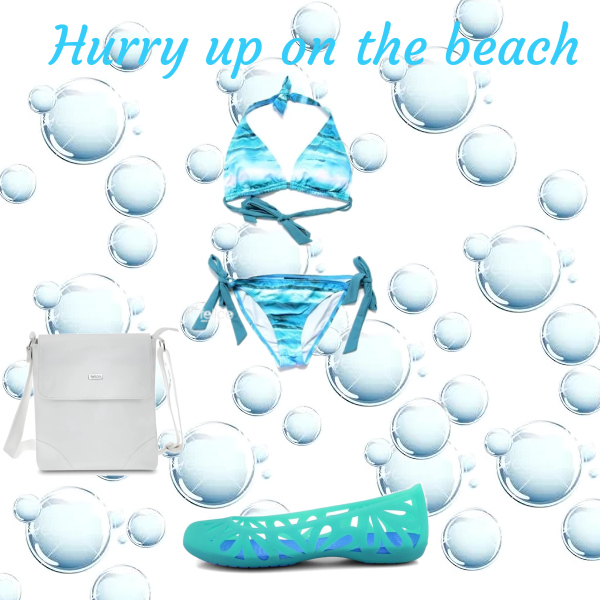 Hurry up on the beach