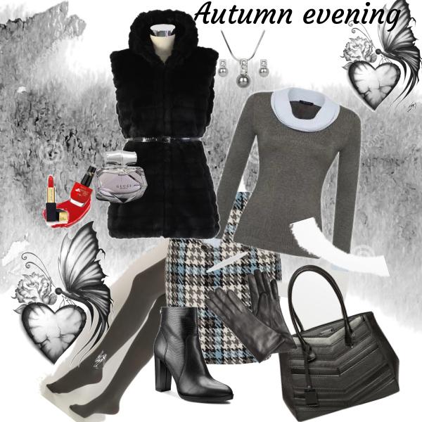 Šedý podzimní večer