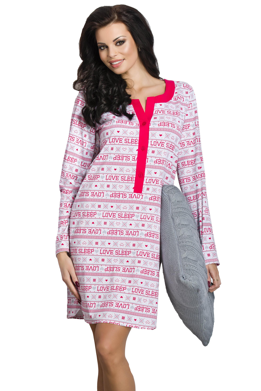 25691167d327 ... Dámska nočná košeľa Marcela ružová L. -10%. Taro ...