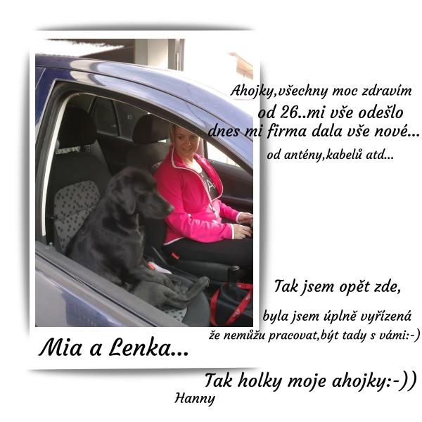 Mia a Lenka.-))Postřižín...:-))