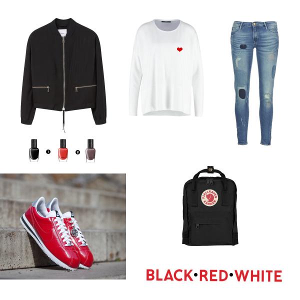 BLAC - RED - WHITE