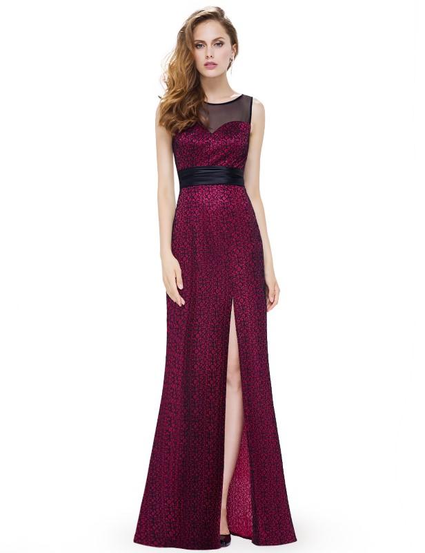 Ever Pretty plesové šaty vínové 8950 - Glami.cz b53417c2ed