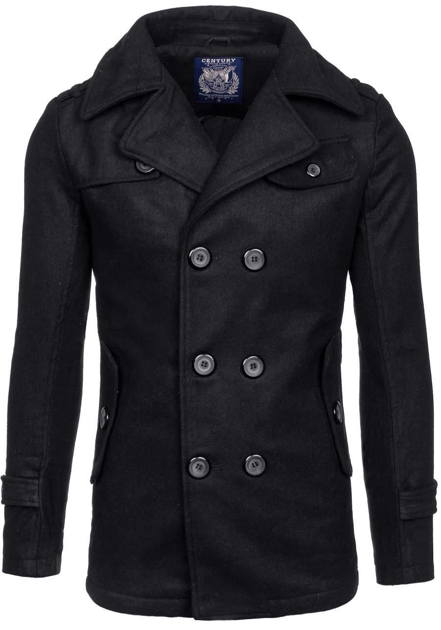 Černý pánský zimní kabát Bolf EX906 - Glami.cz 7056ab6c7ec