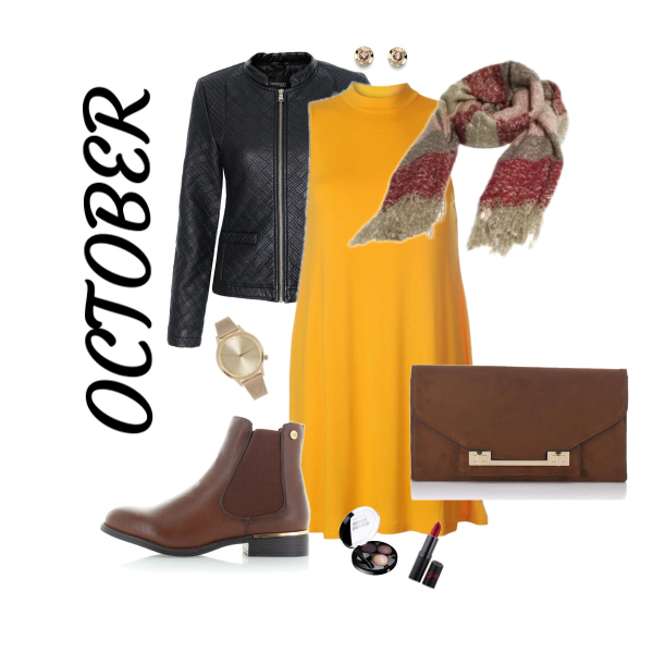 Žlutá a oranžová v podzimním outfitu